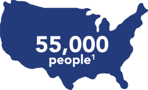 Approximately 55,000 people in the United States receive post-exposure prophylaxis each year